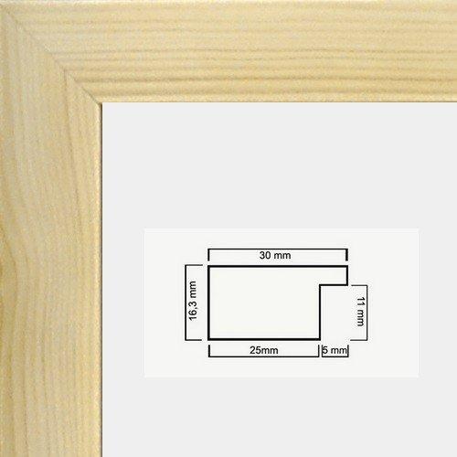 Monika Holzwerkstoff Bilderrahmen schlicht elegant 40 x 70 cm Farbe und Verglasung wählbar 70x40 cm, Hier Kiefer Dekor mit Acrylglas Antireflex 1mm - Mono 40 Seiten In Farbe