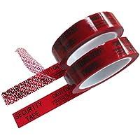 """2 rollo de cinta adhesiva de seguridad """"VOID/OPEN"""" de transferencia total (rojo 25mm x 50m x 2 mil- TamperSeals Group)"""