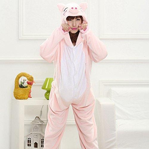 Imagen de kigurumi pijamas unisexo adulto traje disfraz adulto animal pyjamas iflife l para altura 169 178cm , cerdo rosa  alternativa