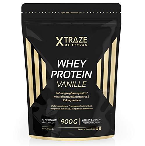 900 g für Eiweiß-Shakes Molkenprotein-Konzentrat + Isolat mit BCAA - Qualität aus Deutschland - ohne Zusatzstoffe - für Kraftsport | Bodybuilding | Fitness (1 Beutel Vanille) ()