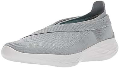 Skechers Damen You-Luxe Slip on Sneaker, Grau (Grey), 39.5 EU