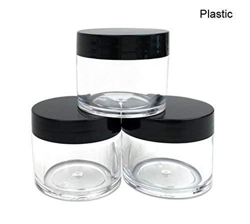 30 g 30 ml rechargeables Plastique Rond clair bocaux avec bouchon à visser Couvercle vide Cosmétique bocaux Lot) conteneurs pour fard à paupières de maquillage ongles Poudre faite à la main