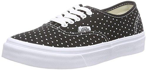 Vans AUTHENTIC SLIM, Damen Sneakers Schwarz ((Micro Hearts) black/true white)