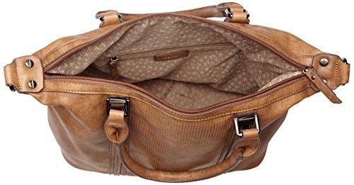 Gabor Damen Palermo Schultertasche, 14.5x28x37.5 cm Braun (Braun)