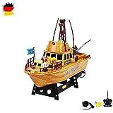 HSP Himoto RC ferngesteuertes Boot Fischerboot Schiff Küstenwache, Komplett-Set inkl. Akku und Fernsteuerung