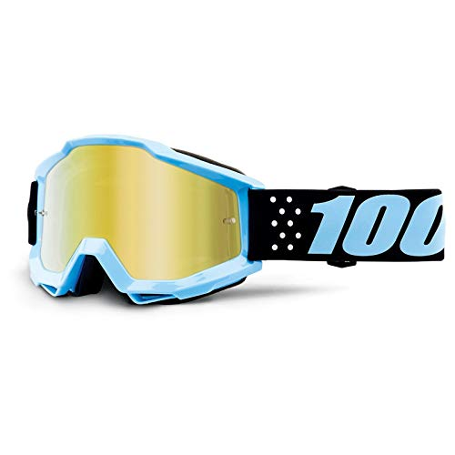 100 Percent Accuri Youth MX Goggles One Size Taichi ~ Mirror Gold Lens