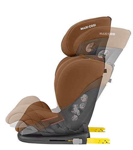 Maxi-Cosi RodiFix AirProtect Child Car Seat, Isofix Booster Seat, Cognac, 15-36 kg Maxi-Cosi Booster car seat for children from 15-36 kg (3.5 to 12 years) Grows along with your child thanks to the easy headrest and backrest adjustment from the top Patented air protect technology for extra protection of child's head 6
