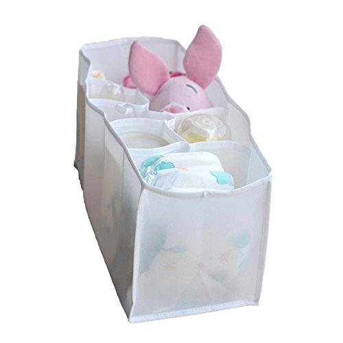 Rrimin Baby Diaper Storage Bag Portable Travel 7 Liners Diaper Nappy Organizer Stuffs Insert Storage Bag Color Random