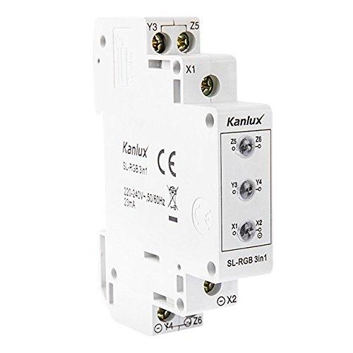 Kontroll Lampe LED RGB 3in1 Phasenprüfer Phasenkontrollleuchte, IP20, 3 SMD LEDs, Kanlux SL-RGB 3in1 (22070) Konformität : Normen EN60947-1 / EN60947-5-1