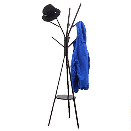 Porte-manteaux de salle de séjour cintre en fer forgé vêtements de sol rack chambre rack de stockage mobile,Black
