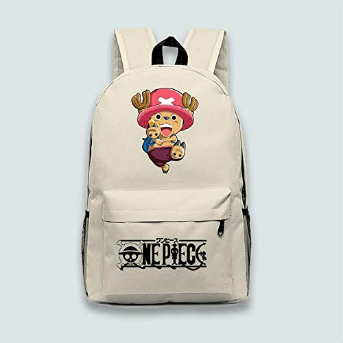 Wildpack Kinderrucksack Anime One Piece Tony Chopper Mittelschule Schultasche Leinwand Reise Loptop Rucksack 1