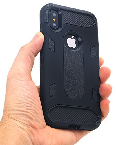 Custodia iPhone X,Custodia iPhone 10,iPhone X Case Snewill 2 in 1 Heavy duty Hybrid Armor Anti-Slip Dual Layer Protection Shockproof PC TPU Combo Cover Case for Apple iPhone X - Purple/Black Black