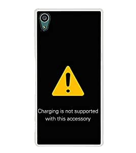 PrintVisa Warning Quote High Gloss Designer Back Case Cover for Sony Xperia Z5 :: Sony Xperia Z5 Dual