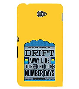 FUSON Drift Away Number Days 3D Hard Polycarbonate Designer Back Case Cover for Sony Xperia E4 :: Sony Xperia E4 Dual