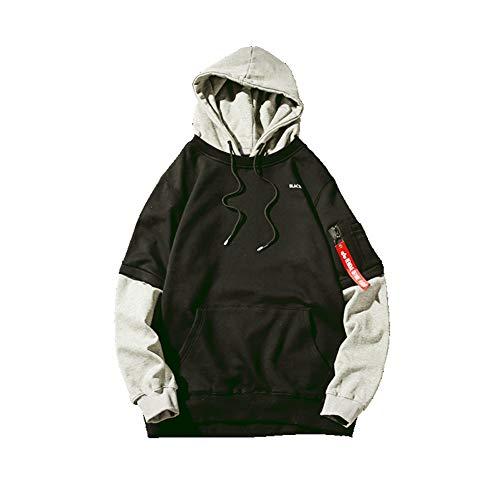 DeLamode Japan Cap Hoodies O-Neck Student Mode Pullover Mantel Black-S
