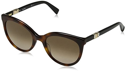Max mara mm jewel ii ha 086 54, occhiali da sole donna, marrone (dark havana/brwn sf)