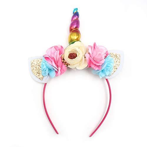 probeninmappx Einhorn Horn Ohren Kopf Haarband Kinder Headwear Glitter Rainbow Kostüm Party Favors