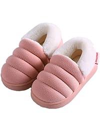 Zapatillas de Estar por Casa para Niñas Niños Otoño Invierno Zapatillas Interior Suave Casa Caliente Zapatos Antideslizantes Peluche de Animales