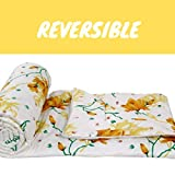 Trendz Home Furnishing Reversible Double Bed King Size Floral Print Comforter/Duvet for Winters