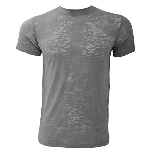 Canvas Burnout Herren T-Shirt, Kurzarm, Rundhals Asphalt