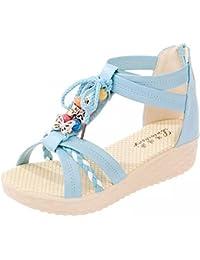 25eb09bc148 Tomsent Damen Sommer Wulstig Sandalen Peep Toe Schuhe Böhmischen Stil  Keilabsatz Sandals…