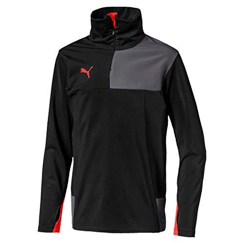 PUMA Jungen ftblNXT 1/4 Zip Top Pullover ftblNXT 1/4 Zip Top Jr, Puma Black/Nrgy Red, 152 (Herstellergröße: 11-12 Jahre) -