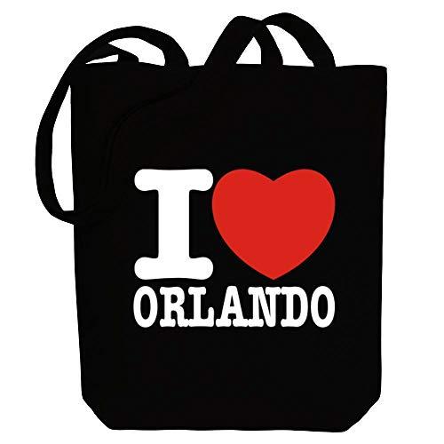 Idakoos I Love Orlando Bold Font Einkaufstaschen 10.5