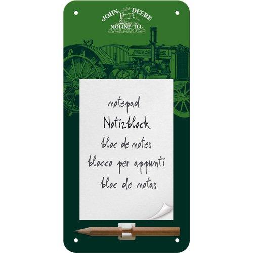 nostalgic-art-84018-john-deere-genuine-notepad-sign-green-10-x-20-cm