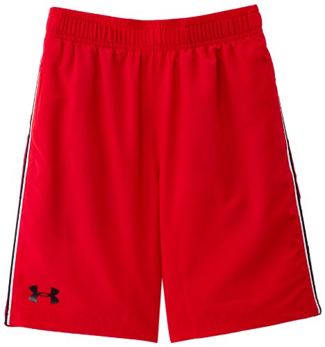 Junior Golf Hose (Under Armour Jungen Hose UA Edge Shorts, Red/Black, XL -600)