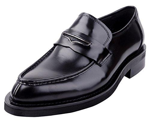 478002ded2e Riancess Mocassins homme Cuir de veau Chaussures de ville Tête poindu  HANDWORK Noir Vente Vue Vente Rabais Excellent