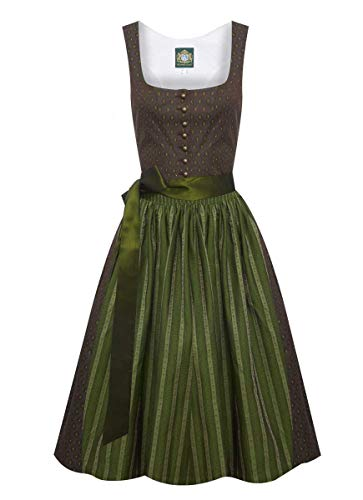 Hammerschmid Damen Trachten-Mode Midi Dirndl Chiemsee in Braun traditionell