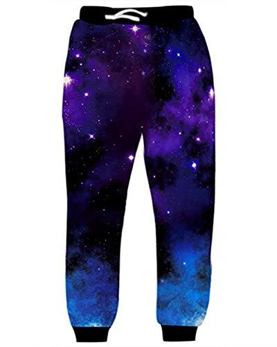 inted Star Galaxy Jogginghose Sport Joggers Hosen Hip Hop ()