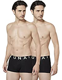 Tuna London Black Color Cotton Fabric Trunk For Mens - Pack Of 2