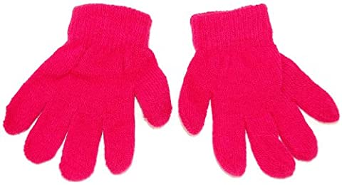Baby toddler magic knitted gloves. Available in 6 colours; black,