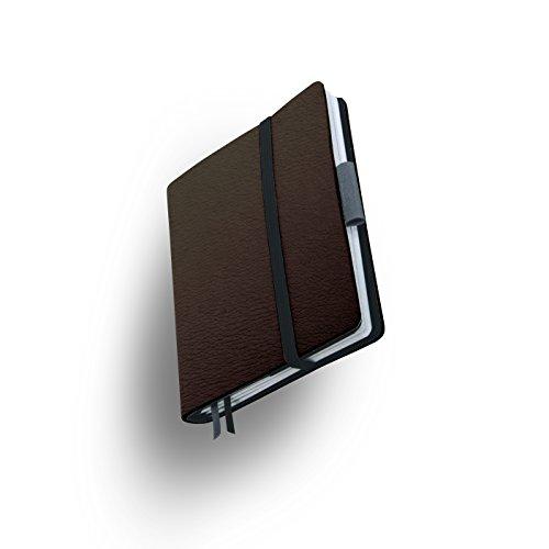 Whitebook SLIM S207-SX, modulares Notizbuch, Veaux Prestige, geschnitten, Chocolate, 120 S. Papier FSC