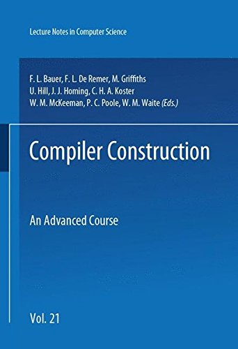 Compiler Construction: An Advanced Course (Springer Study Edition) - B Computer Science Ap