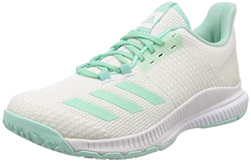 400f0ff83135 adidas Damen Crazyflight Bounce 2 Volleyballschuhe Weiß FTWR White Clear  Mint
