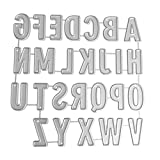 GRAVUREM 101.SR5 Juegos de abecedario de 5 mm de acero de aleaci/ón para marcado por golpe, 27 piezas