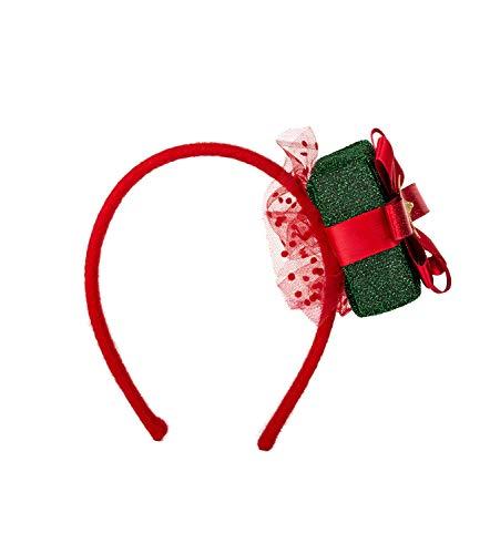 SIX Weihnachts-Haarreif mit glitzerndem Geschenkpaket und Tüll-Verzierung (315-889)