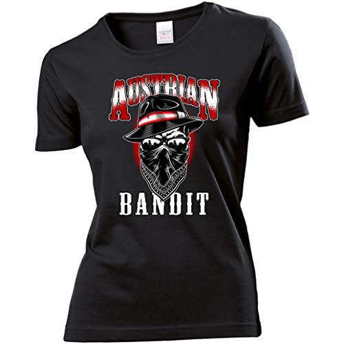 KMC Austria Design Damen Lady T-Shirt - Österreich - Austrian Bandit (Schwarz, XL)