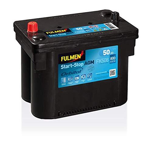 Fulmen - Batterie voiture Start and Stop FK508 12V 50Ah 800A - Batterie(s)