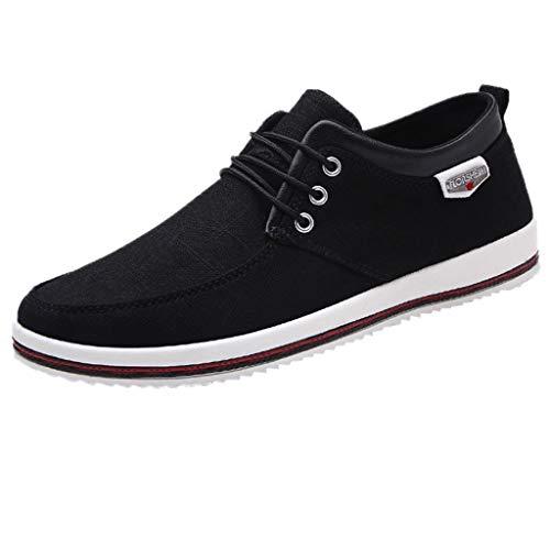riou Zapatos Casuales de Hombre Zapatos de Lona Casuales Moda Zapatos de Estudiante Ligeras y Transpirables para Hombres Zapatillas para Correr Calzado Sneakers