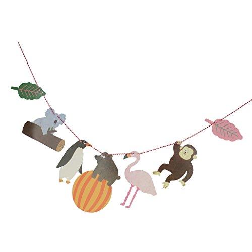 MagiDeal Bandera Colgante de Papel Forma de Animales Pingüino Oso Koala Mono Decoración de Fiesta de Cumpleaños de Bienvenida Al Bebé