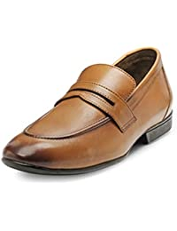 Teakwood Men's Real Genuine Leather Slip-on Mocassin Penny Loafers Casual Shoes