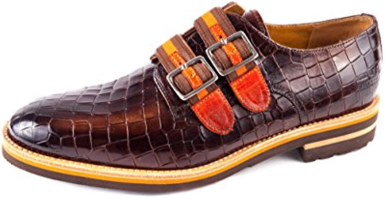 Melvin & Hamilton MH15-423 - Zapatos de Cordones de Piel Lisa para Hombre Marrón Marrón 41 EU -