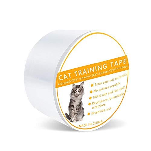 Womdee Katzen-Kratzband, Anti-Kratzband, Kratzschutz, Klebeband für Katzen und Haustiere, schützt vor Kratzern von Couchs, Ecken von Stuhl, Türrahmen, Theken und Teppich - Größe L/M/S L -