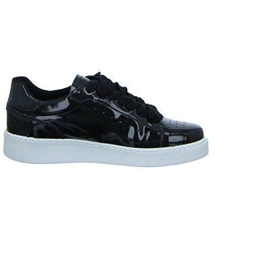 Tamaris Damen 23672 Sneaker Schwarz (Black Patent)