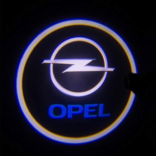 Aokairuisi Kit Luci Logo Opel Proiettore sottoporta LED CREE Cortesia 5W 12V Universale
