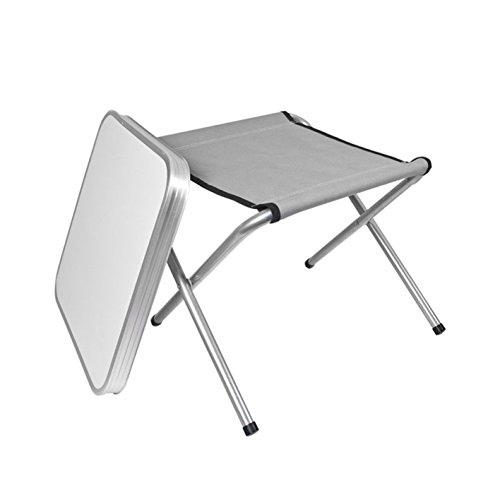 Milestone Combination Camping Table and Stool - Cream, 42 x 42 x 46 cm