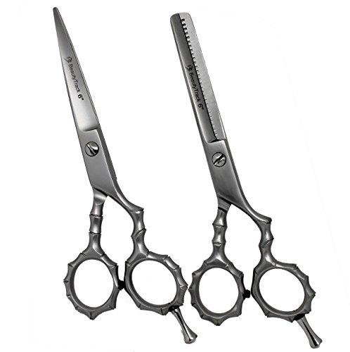 Ensemble de ciseaux professionnels en acier Inoxydable - Ciseaux de coiffeur; Usage professionnel et personnel - repose-doigt intégré